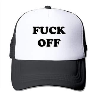 4f35c2e9 Brave2 Fuck Off Unisex Mens Trucker Hat Summer Mesh Cap with Adjustable Hat  Snapback Strap Black