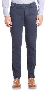 Eleventy American-Fit Brushed Cotton Chinos