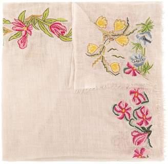 Faliero Sarti Irina floral embroidered scarffine