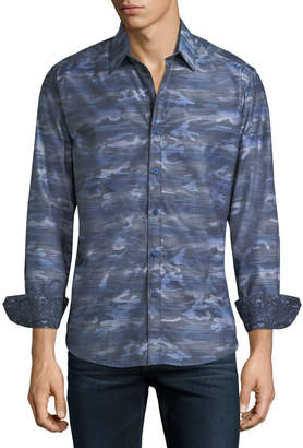 Robert Graham Tailored-Fit Camouflage Woven Sport Shirt