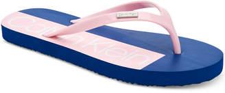 Calvin Klein Women's Sonic Flip-Flop Sandals Women's Shoes