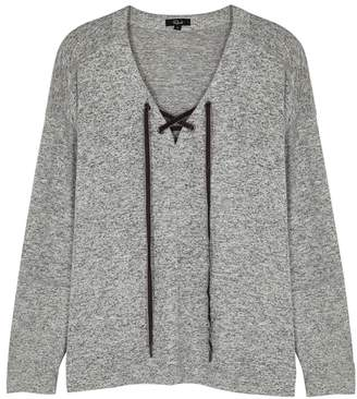 Rails Leigh Grey Knitted Sweatshirt