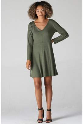 Angie V-Neck Sweater Dress