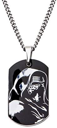 Star Wars Jewelry Episode 7 Kylo Ren Stainless Steel Dog Tag Men's Pendant Necklace