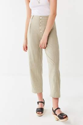 Urban Outfitters Maria Button-Fly Tapered Trouser