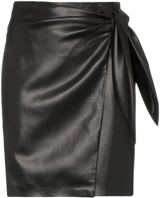 Nanushka Iowa tie-waist vegan leather mini skirt