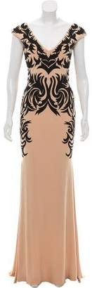 Jovani Embroidered High-Low Gown