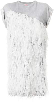 Moncler feather embellished dress