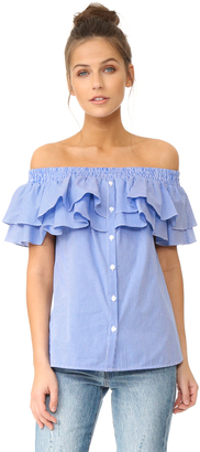 Petersyn Skye Off Shoulder Top $275 thestylecure.com