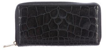 Yves Saint Laurent Embossed Leather Wallet