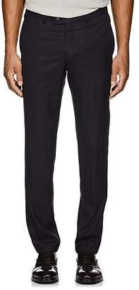 Hiltl Men's Wool Twill Flat-Front Trousers
