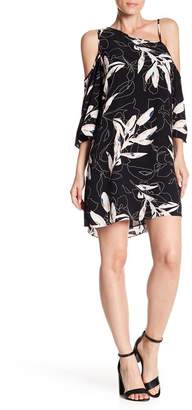 1 STATE 1.State Cold Shoulder Flounce Dress
