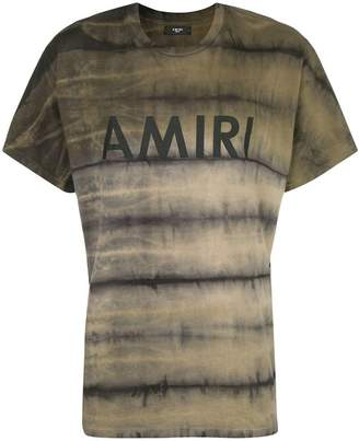 Amiri logo print striped T-shirt