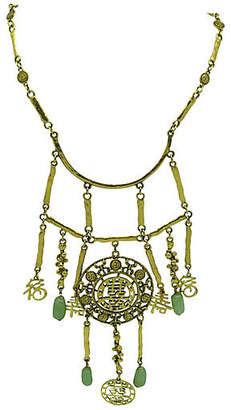 One Kings Lane Vintage Festoon-Style Nephrite Necklace