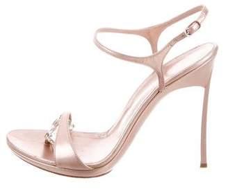 Casadei Embellished Leather Sandals
