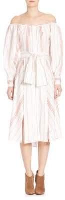 Elle Sasson Leandra Off-The-Shoulder Silk Dress