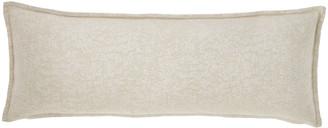 Fino Lino Linen & Lace Moonstruck Decorative Oblong Pillow