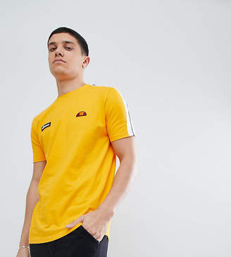 Ellesse T-Shirt With Sleeve Taping In Yellow