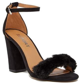 Report Mirren Faux Fur Sandal