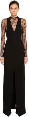 Givenchy Lace & Wool Crepe Dress