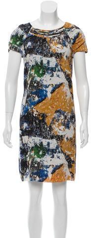 Tory BurchTory Burch Abstract Print Silk Dress