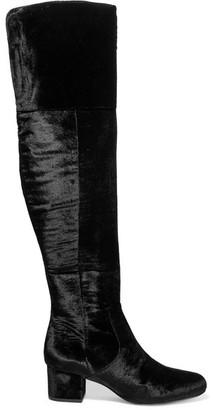 Sam Edelman - Elina Velvet Over-the-knee Boots - Black $275 thestylecure.com