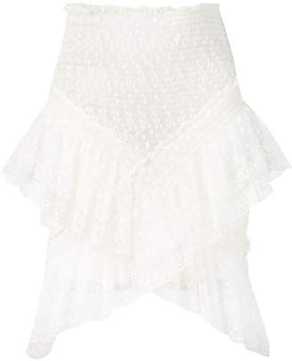 Philosophy di Lorenzo Serafini draped lace skirt