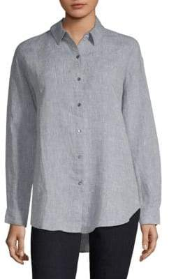 Eileen Fisher Organic Linen Button-Down Shirt
