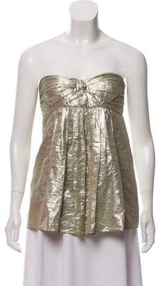 Stella McCartney Metallic Silk Strapless Top
