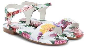 d02e51d0a5b Dolce   Gabbana Floral-printed leather sandals