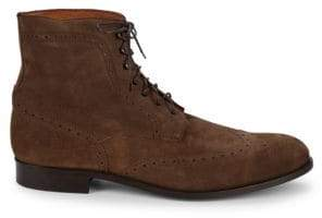 Saks Fifth Avenue Wingtip Suede Brogue Boots