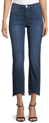 Frame Le High Straight-Leg Released Step-Hem Cropped Jeans