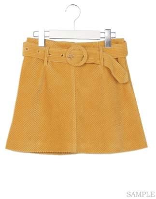 Onespo ワンスポ 太コール台形ミニスカート