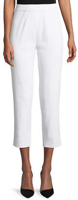 Misook Slim-Leg Knit Ankle Pants, Petite