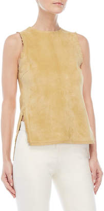 Derek Lam Sleeveless Fringe Leather Shell