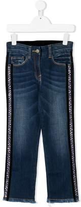 MonnaLisa rhinestone embellished jeans