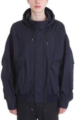 Jil Sander Blue Cotton Jacket
