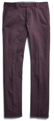 Todd Snyder Seersucker Tab Trouser in Burgundy