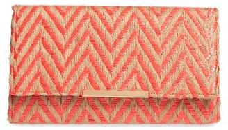 Natasha Couture Woven Chevron Clutch - Orange $48 thestylecure.com