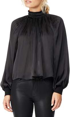 Habitual High Neck Satin Charmeuse Blouse