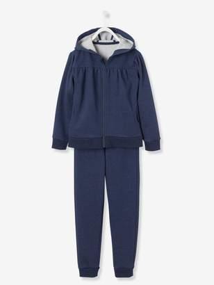 Vertbaudet Girls' Zip-Up Sweatshirt & Joggers Set