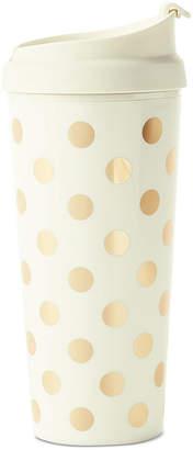 Kate Spade Thermal Mug, Gold Dot