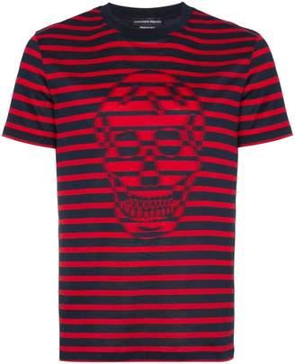 Alexander McQueen striped skull-print T-shirt