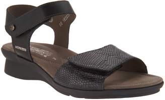 Mephisto Leather Double Strap Wedges - Pattie