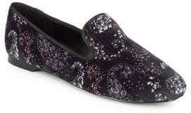 BCBGeneration Justine Printed Velvet Loafers