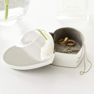 The White Company Silver Plated Heart Box