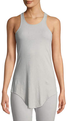 Frank And Eileen Base Layer Scoop-Neck Cotton Tank, Gray