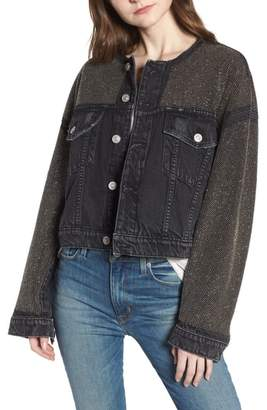 Hudson Rei Studded Crop Denim Jacket