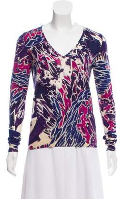 Emilio Pucci Printed V-Neck Sweater