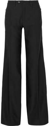 Chloé Wool-blend Wide-leg Pants - Black